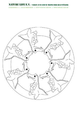Vorschau Kroko-Mandala